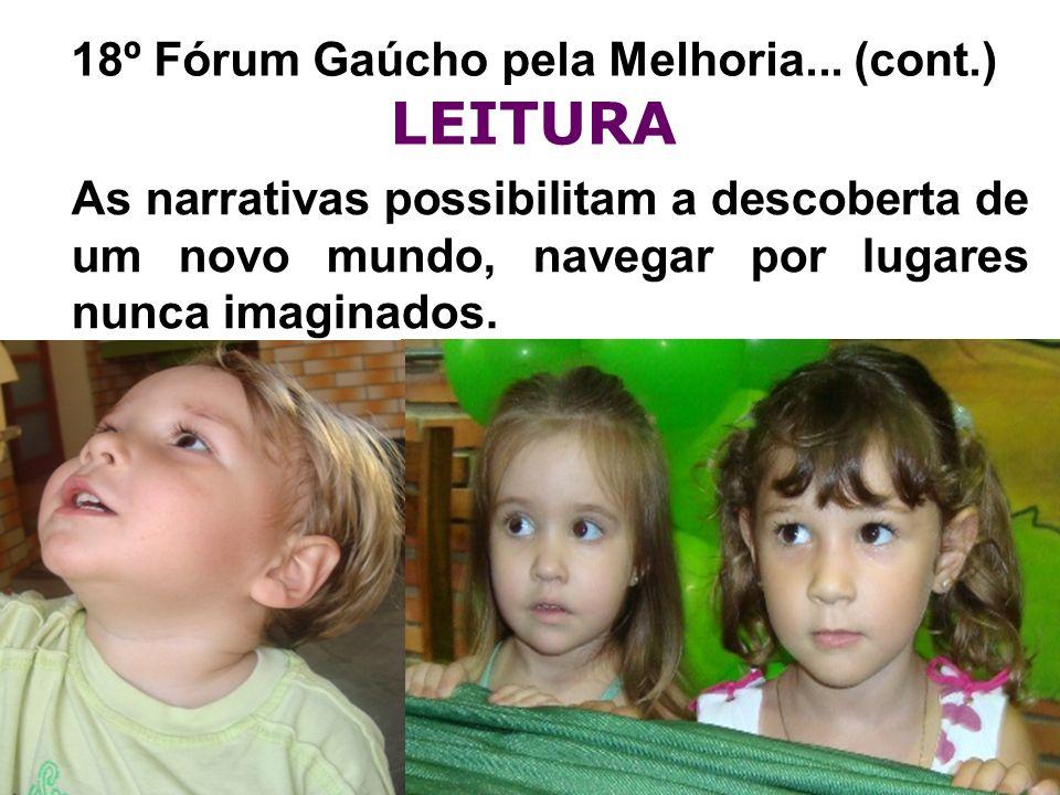 18º Fórum Gaúcho pela Melhoria... (cont.) LEITURA