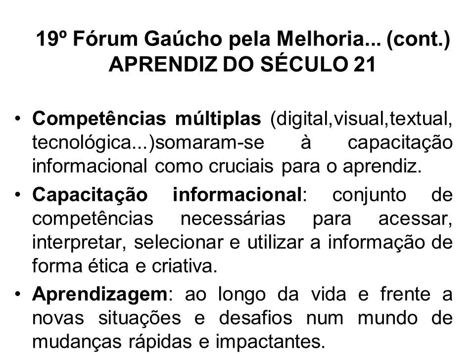 19º Fórum Gaúcho pela Melhoria... (cont.)
