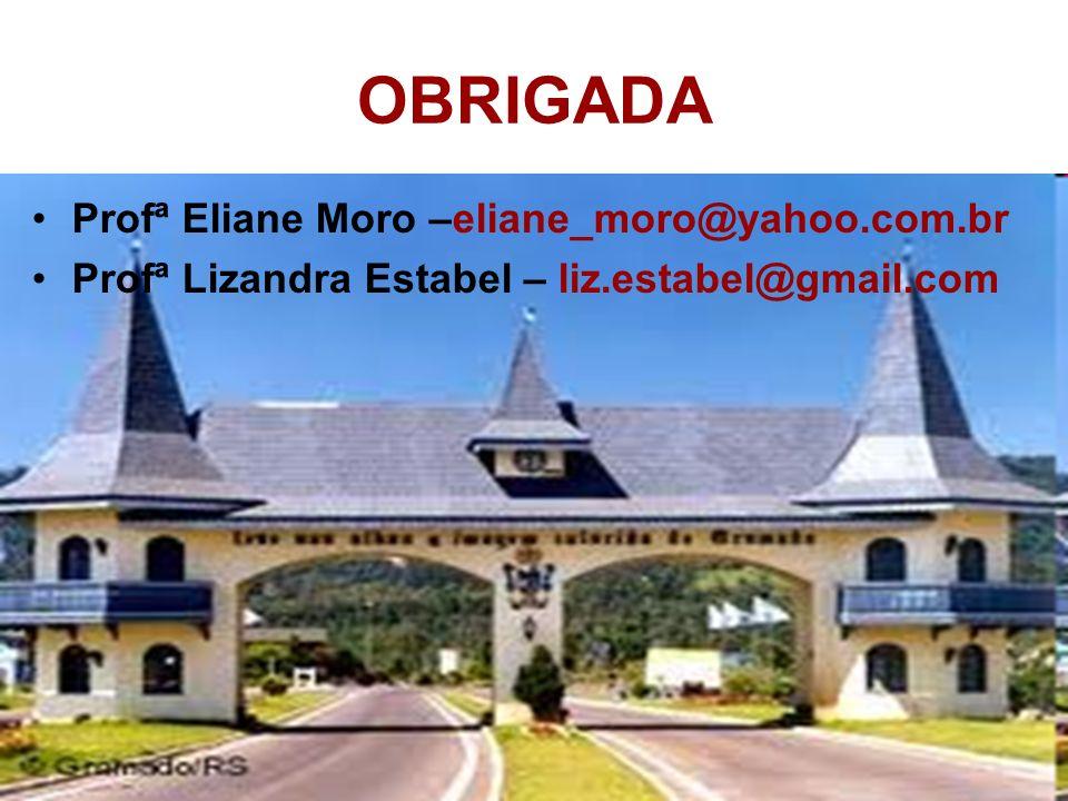 OBRIGADA Profª Eliane Moro –eliane_moro@yahoo.com.br