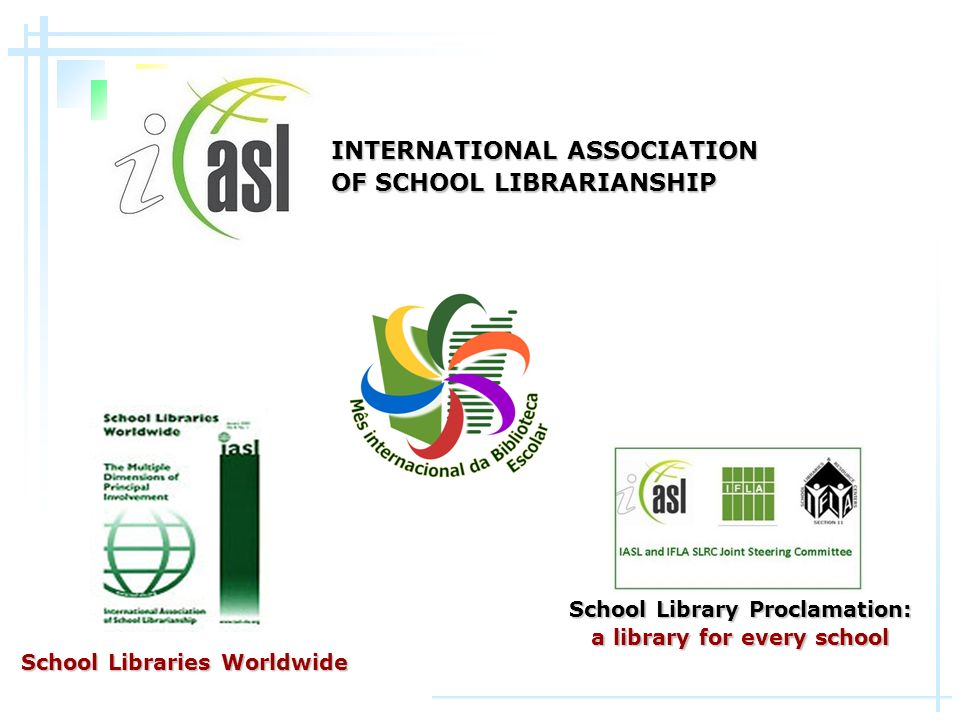 School Library Proclamation: a library for every school