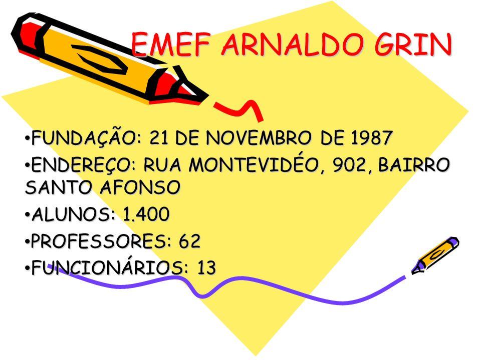 EMEF ARNALDO GRIN FUNDAÇÃO: 21 DE NOVEMBRO DE 1987