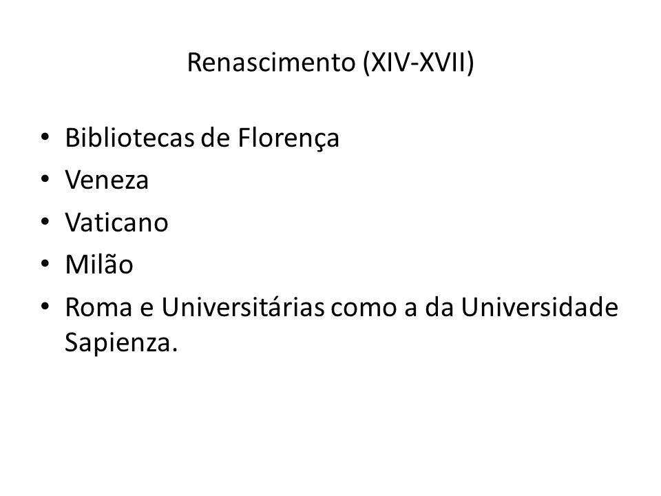 Renascimento (XIV-XVII)