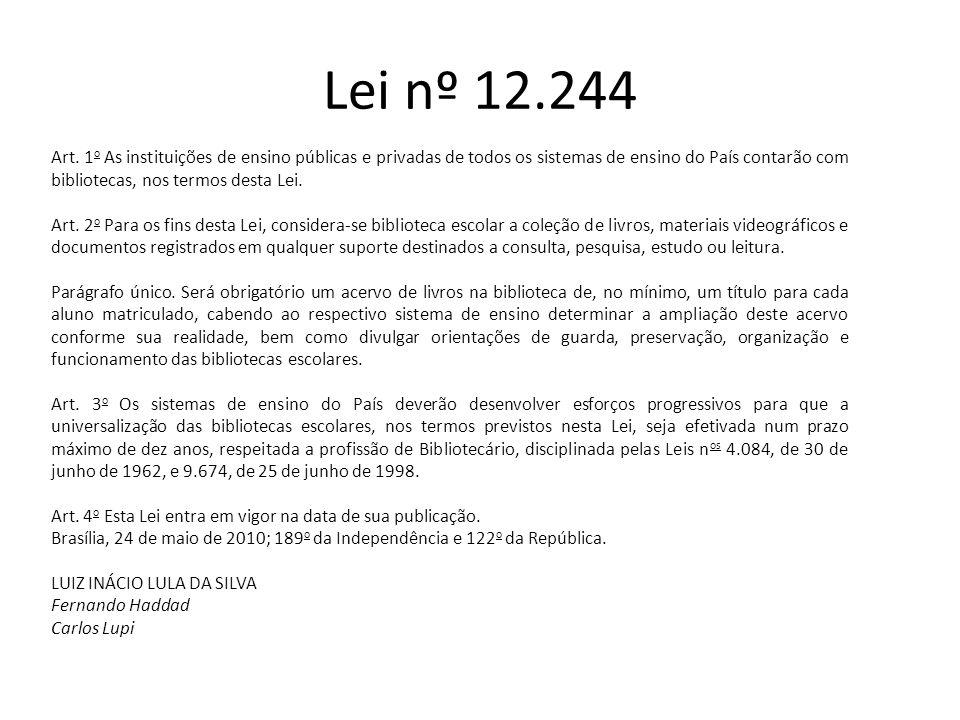 Lei nº 12.244