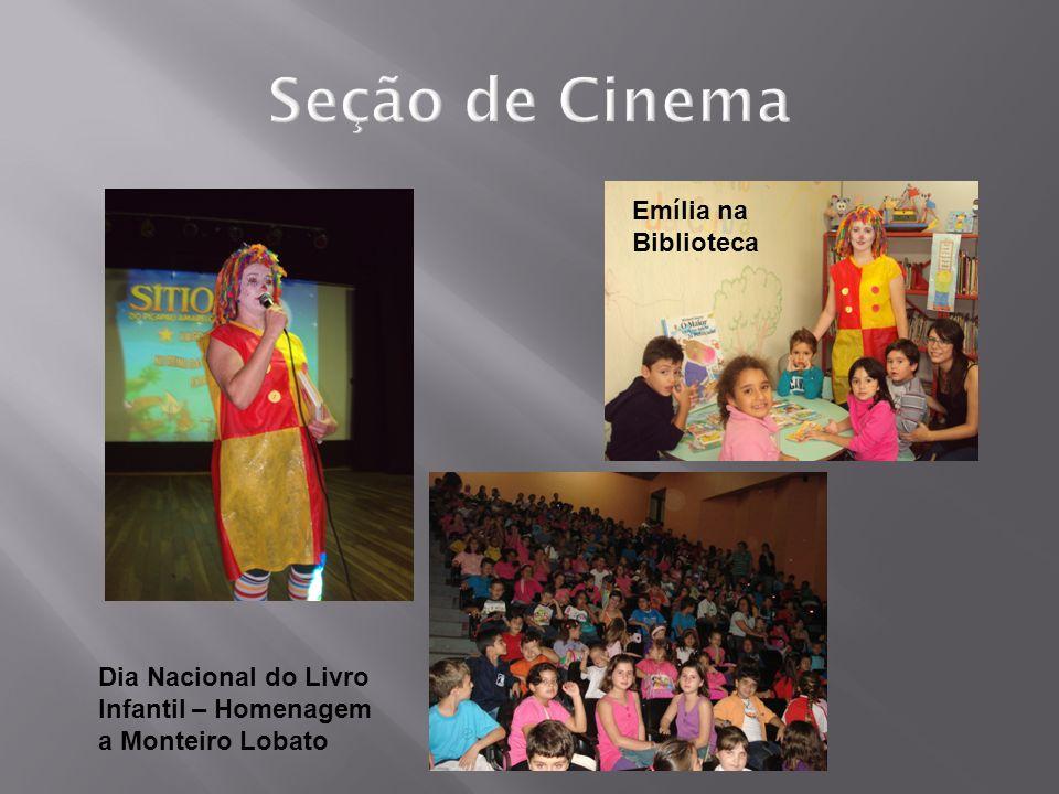 Seção de Cinema Emília na Biblioteca