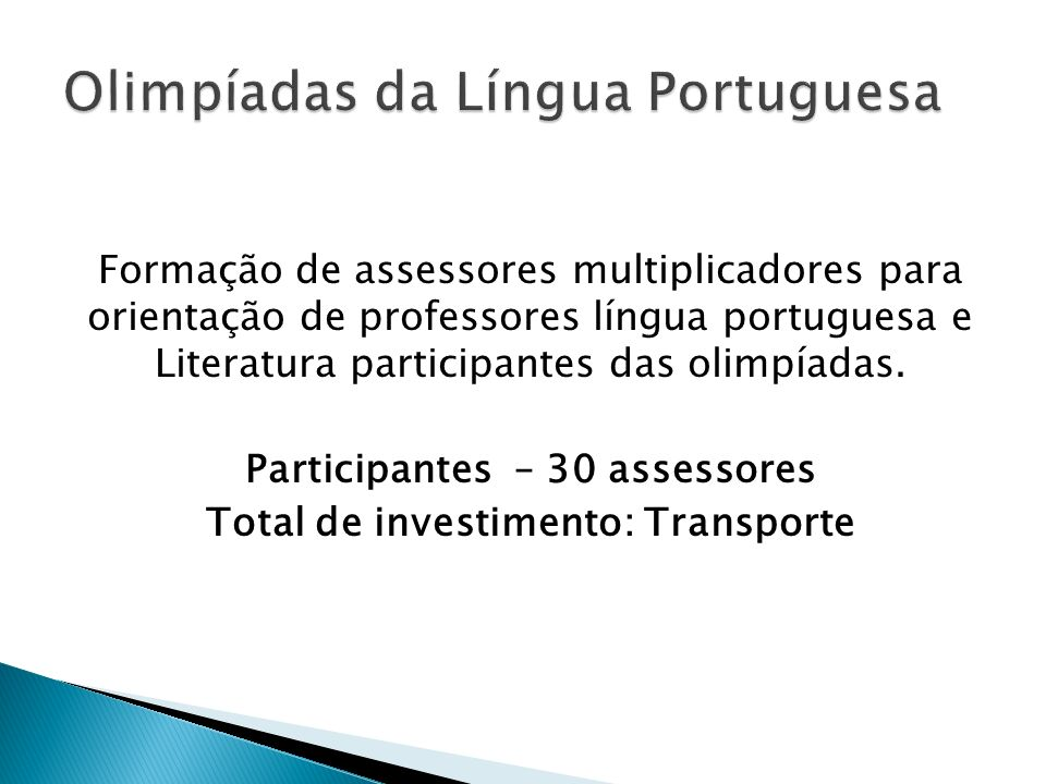 Olimpíadas da Língua Portuguesa