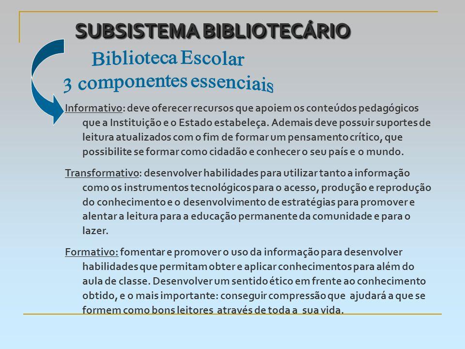 SUBSISTEMA BIBLIOTECÁRIO