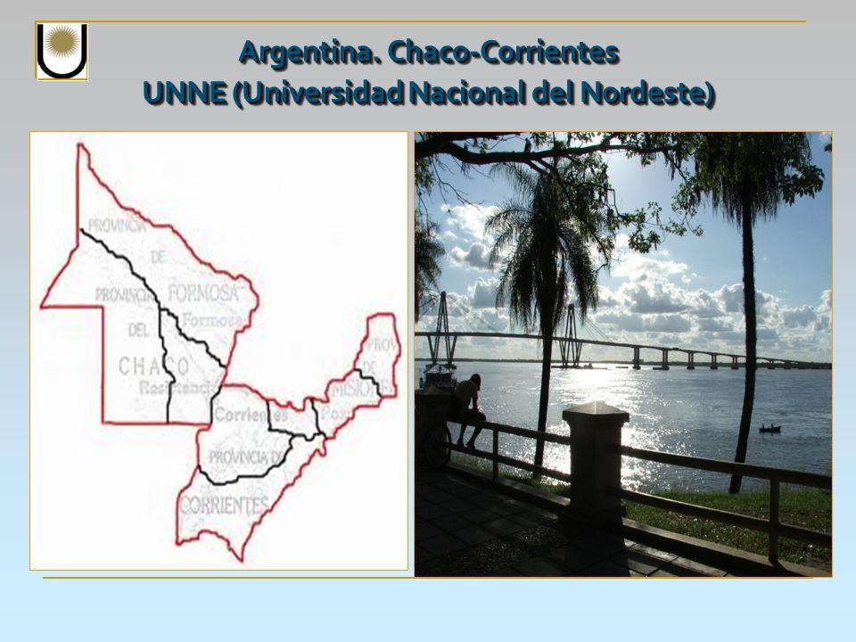 Argentina. Chaco-Corrientes UNNE (Universidad Nacional del Nordeste)