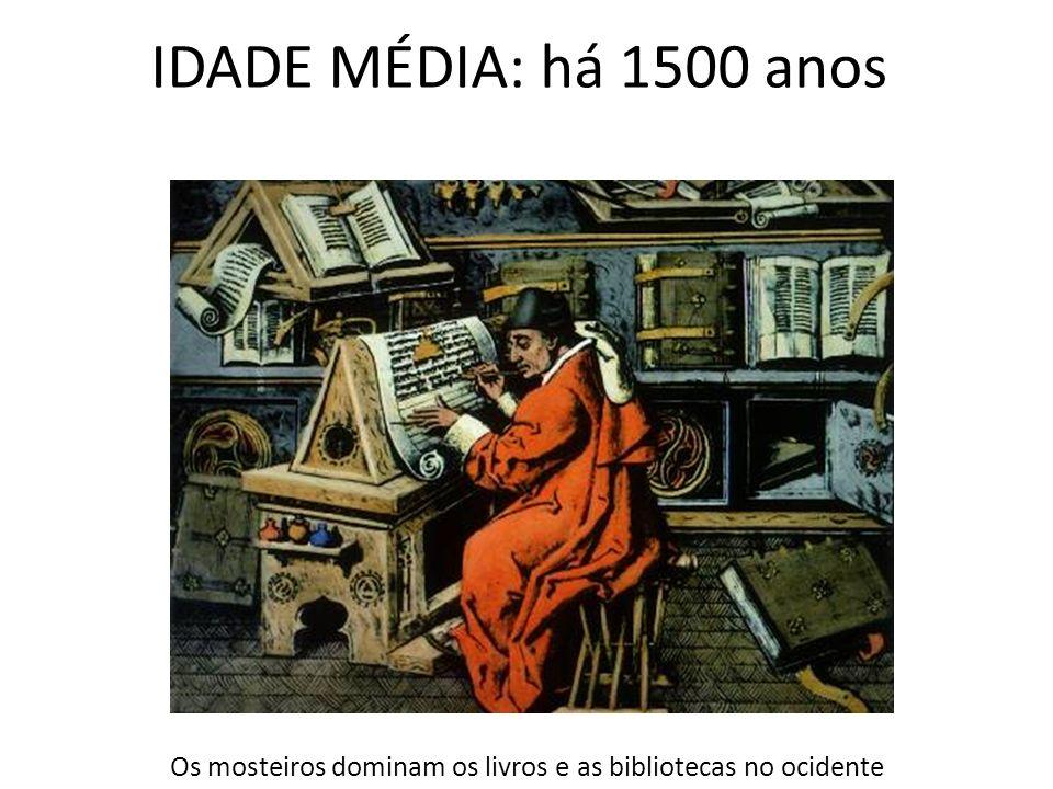 Os mosteiros dominam os livros e as bibliotecas no ocidente
