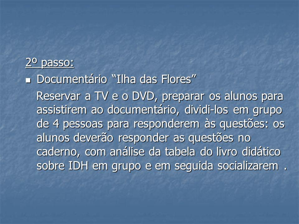 2º passo: Documentário Ilha das Flores