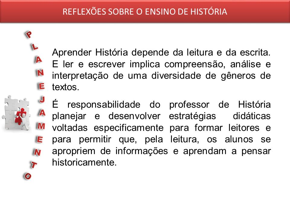 REFLEXÕES SOBRE O ENSINO DE HISTÓRIA