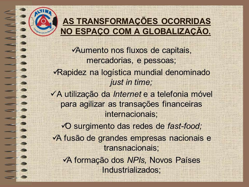 AS TRANSFORMAÇÕES OCORRIDAS NO ESPAÇO COM A GLOBALIZAÇÃO.