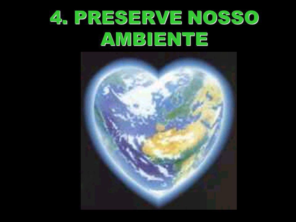 4. PRESERVE NOSSO AMBIENTE