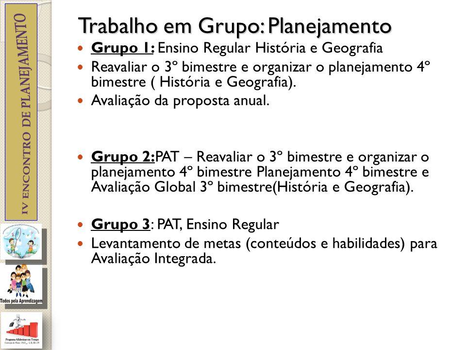 Trabalho em Grupo: Planejamento