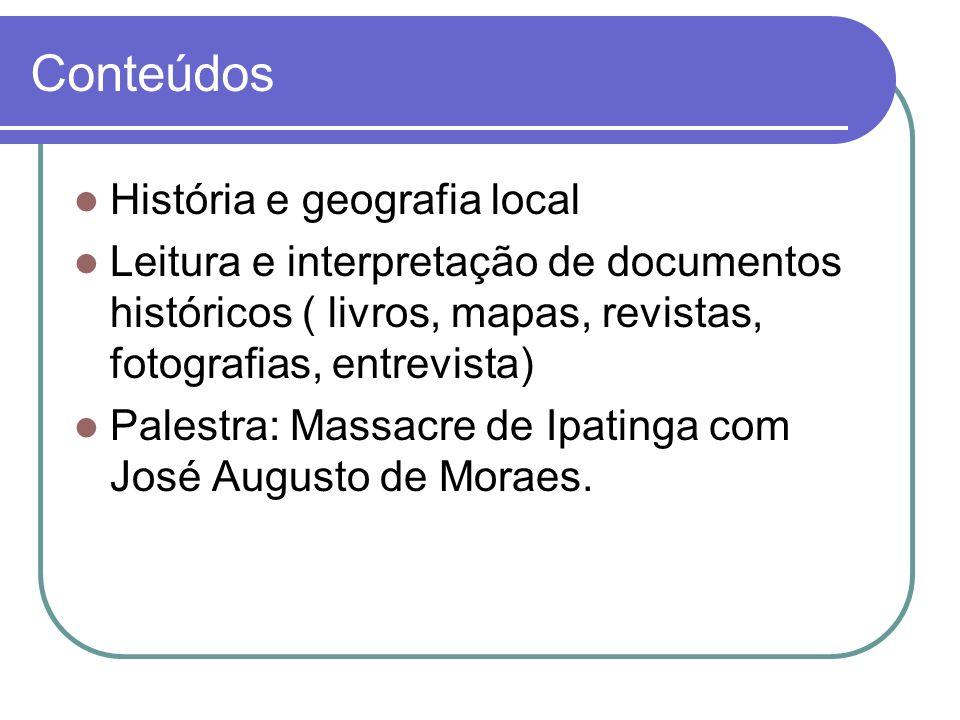Conteúdos História e geografia local