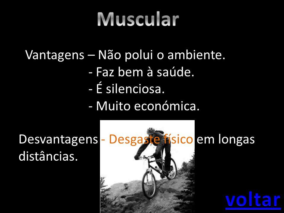 Muscular voltar Vantagens – Não polui o ambiente. - Faz bem à saúde.