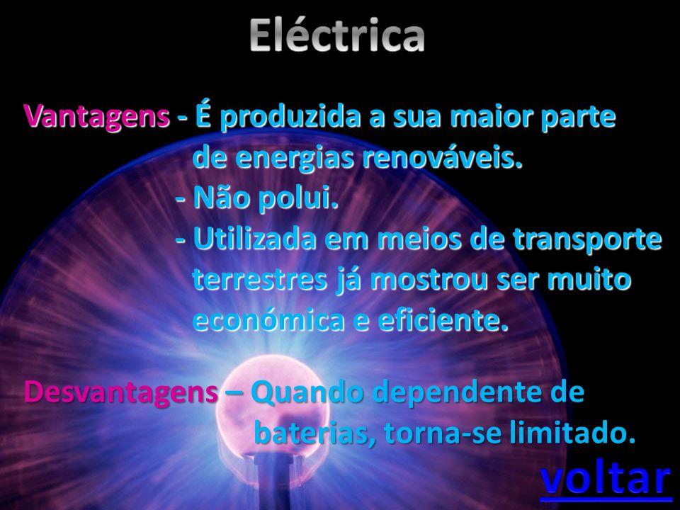 Eléctrica voltar Vantagens - É produzida a sua maior parte