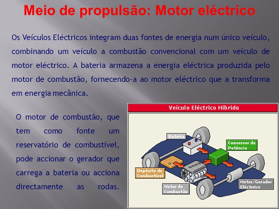 Meio de propulsão: Motor eléctrico