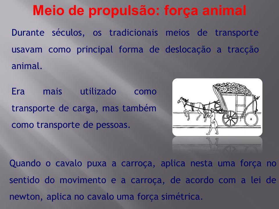 Meio de propulsão: força animal