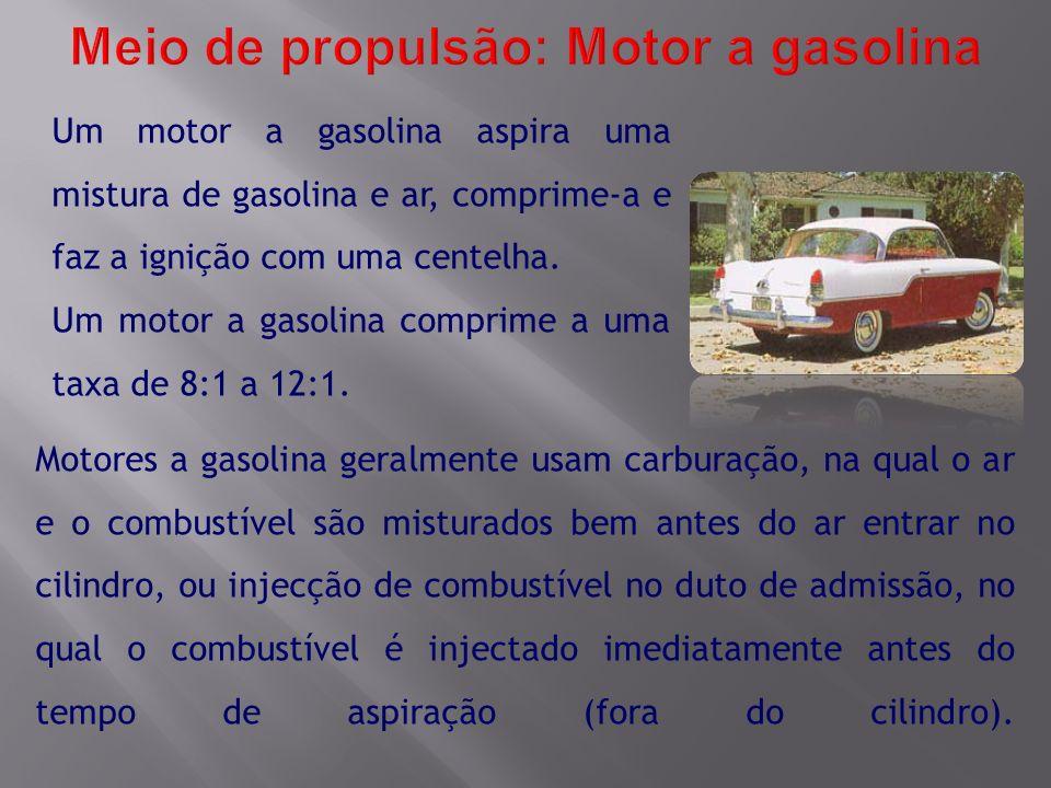 Meio de propulsão: Motor a gasolina