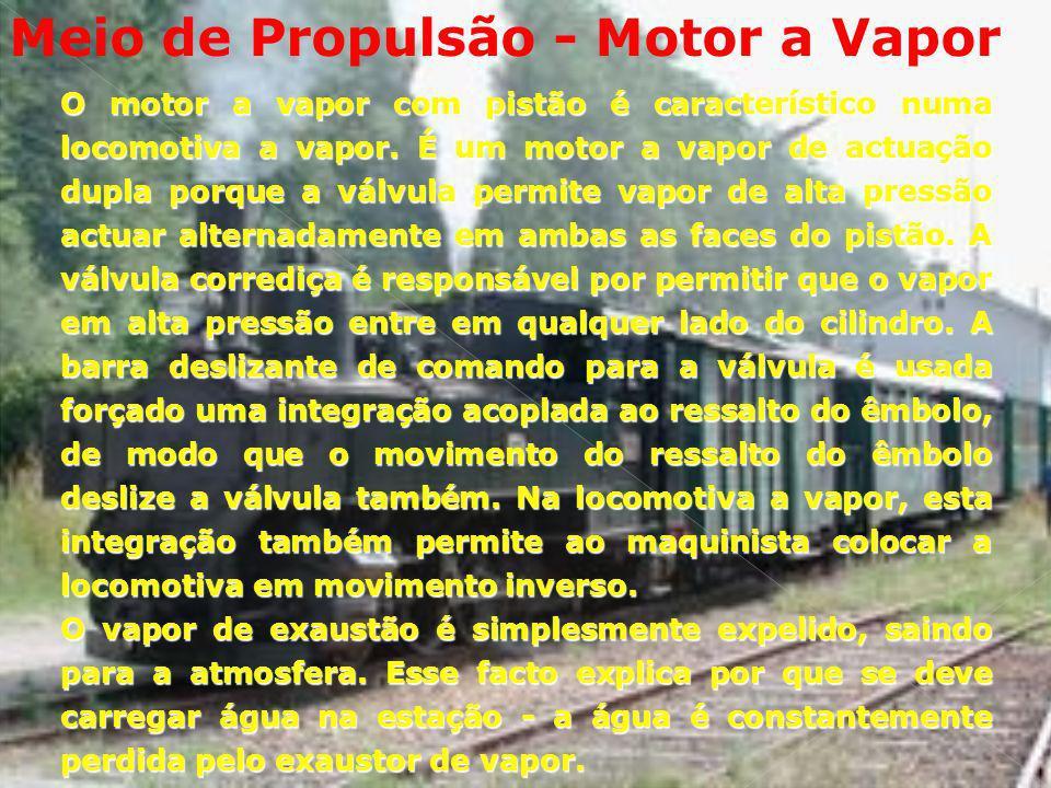 Meio de Propulsão - Motor a Vapor