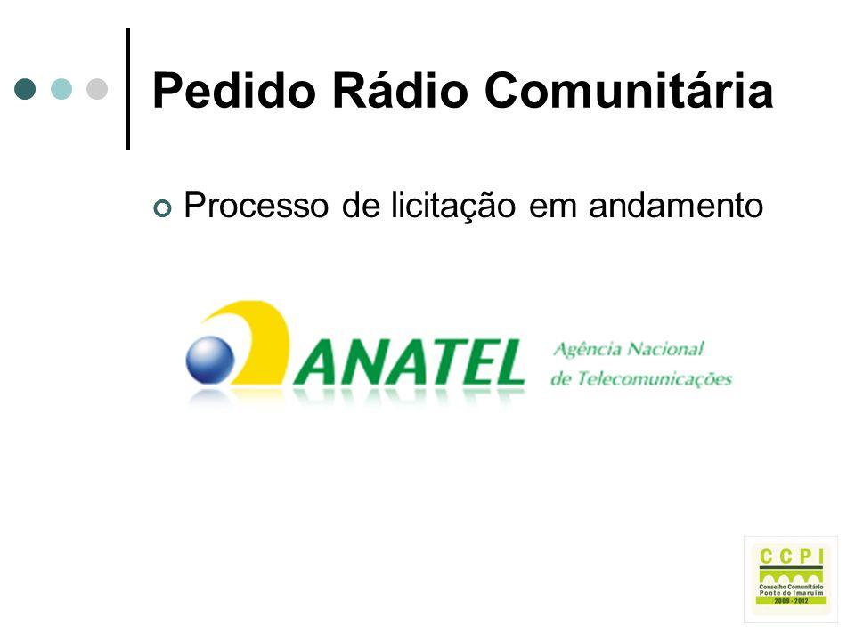Pedido Rádio Comunitária