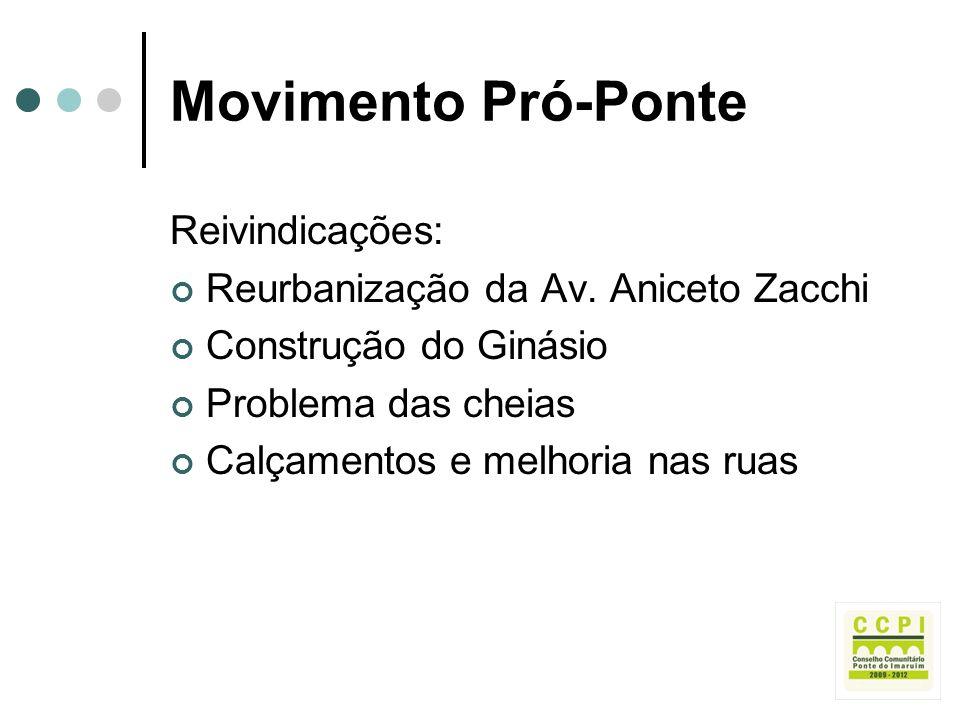 Movimento Pró-Ponte Reivindicações: