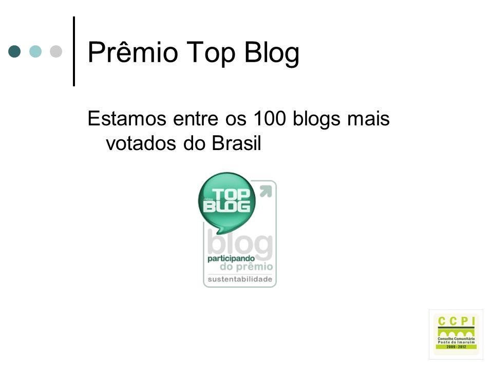 Prêmio Top Blog Estamos entre os 100 blogs mais votados do Brasil