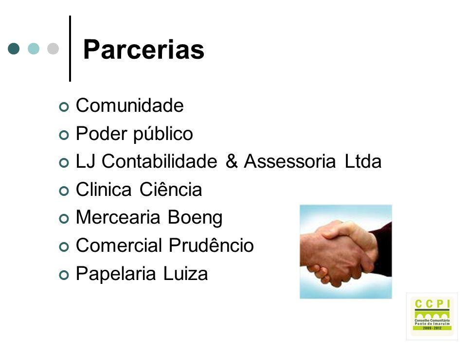 Parcerias Comunidade Poder público LJ Contabilidade & Assessoria Ltda
