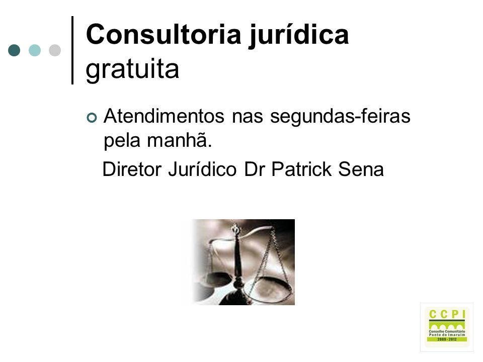 Consultoria jurídica gratuita