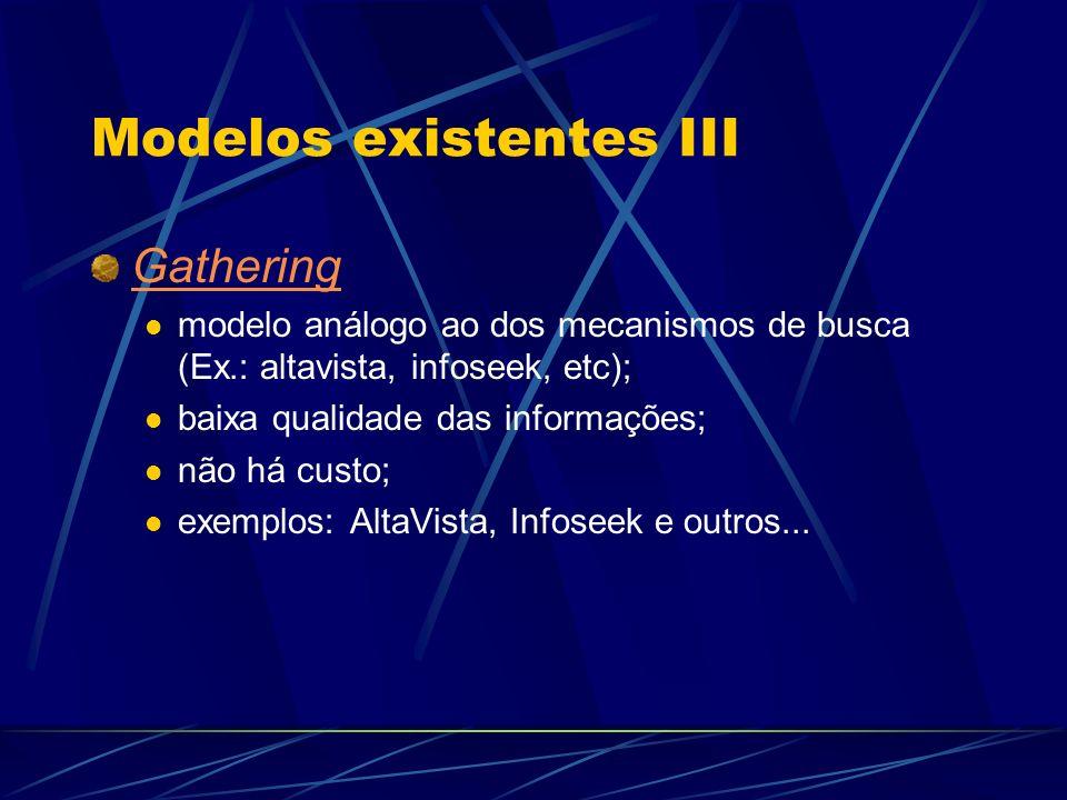 Modelos existentes III