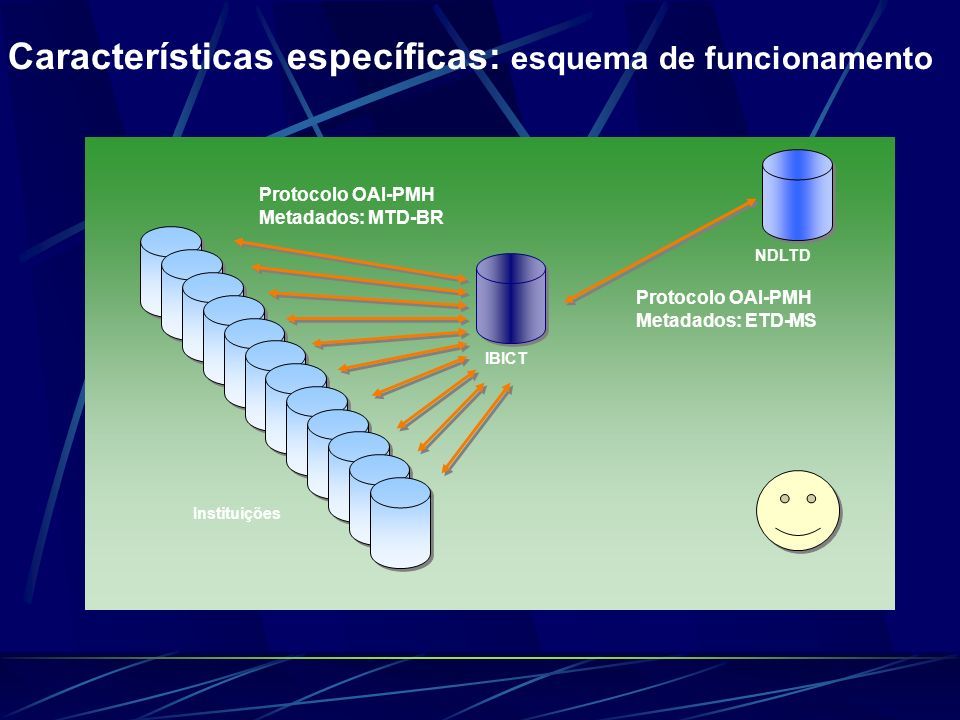 Características específicas: esquema de funcionamento