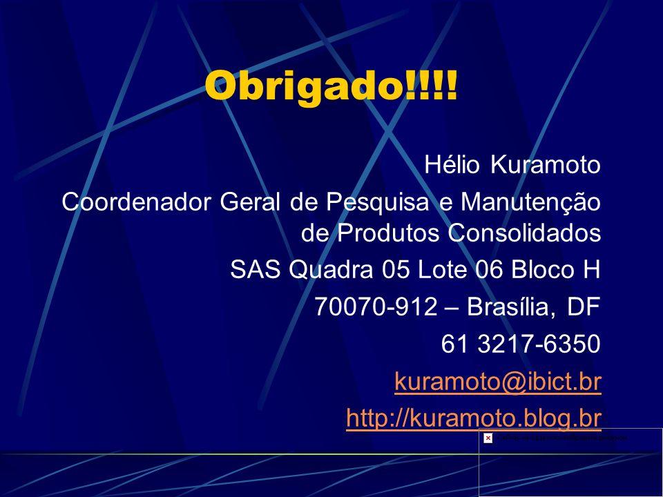 Obrigado!!!! Hélio Kuramoto