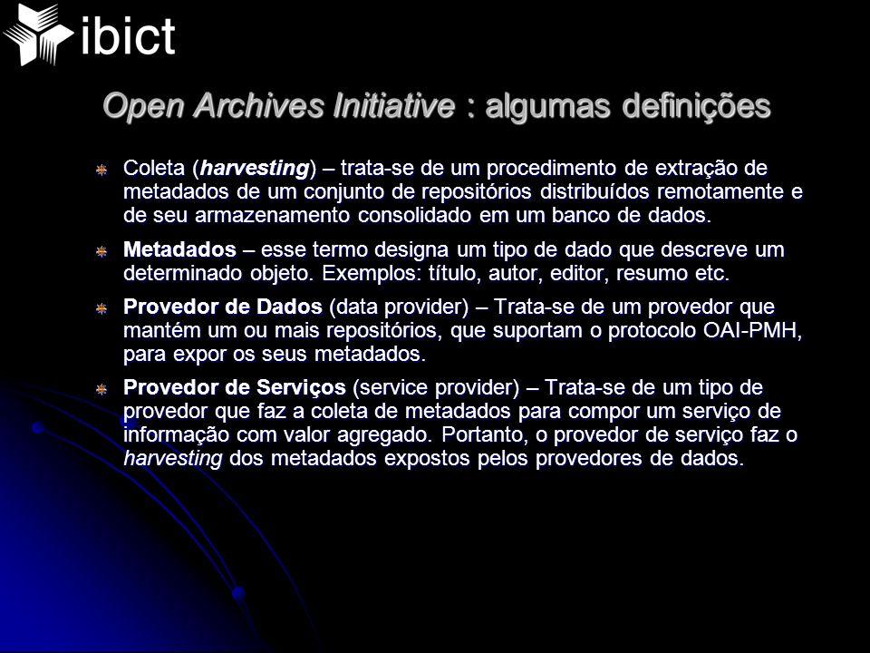 Open Archives Initiative : algumas definições
