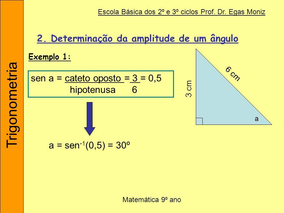 2. Determinação da amplitude de um ângulo