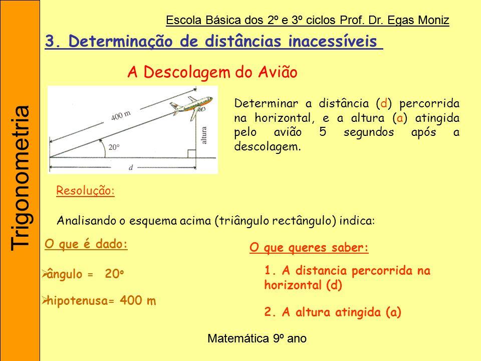 3. Determinação de distâncias inacessíveis