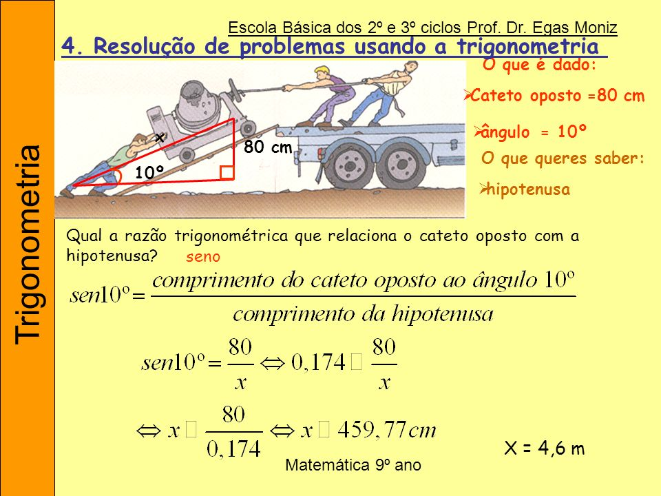 4. Resolução de problemas usando a trigonometria