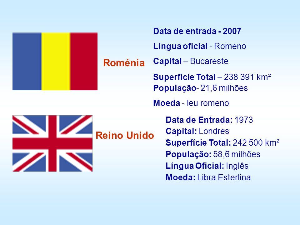 Roménia Reino Unido Data de entrada - 2007 Língua oficial - Romeno