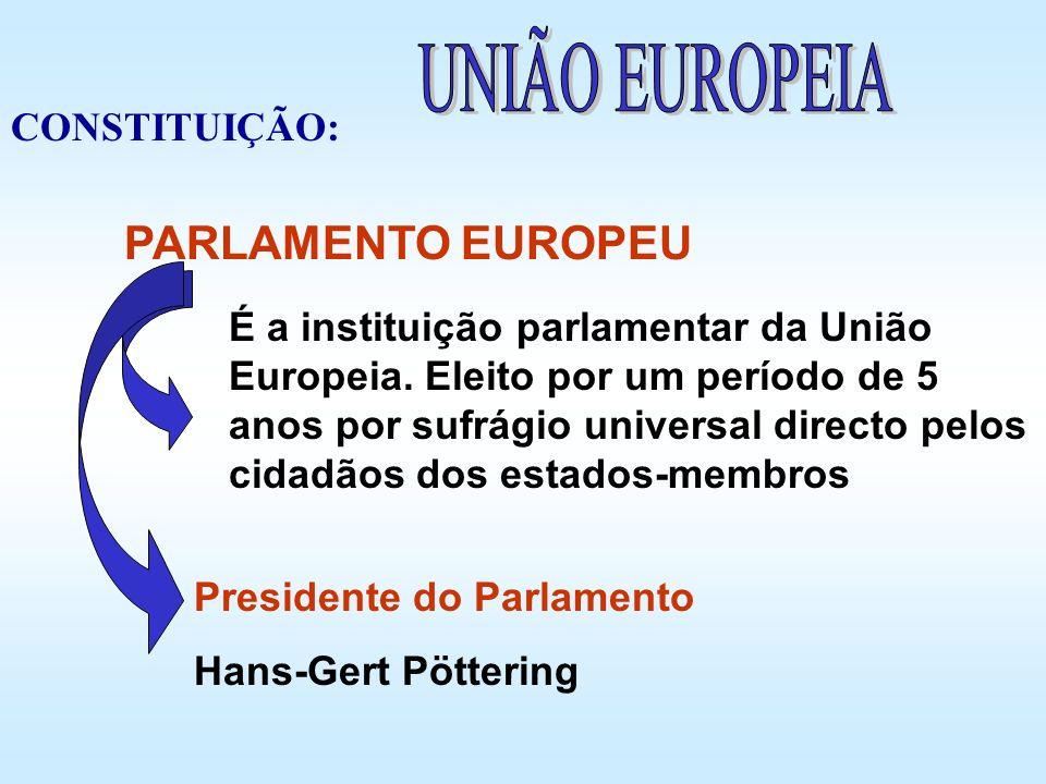 UNIÃO EUROPEIA PARLAMENTO EUROPEU CONSTITUIÇÃO: