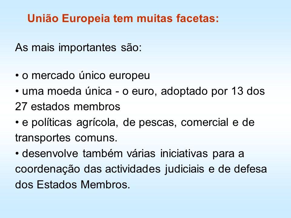 União Europeia tem muitas facetas: