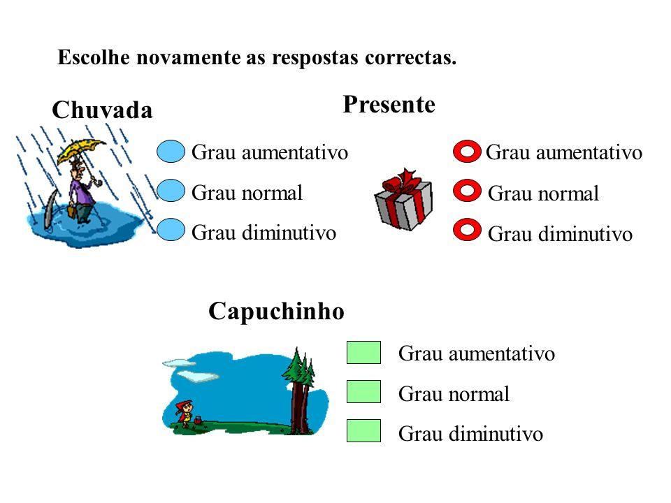 Presente Chuvada Grau aumentativo Capuchinho