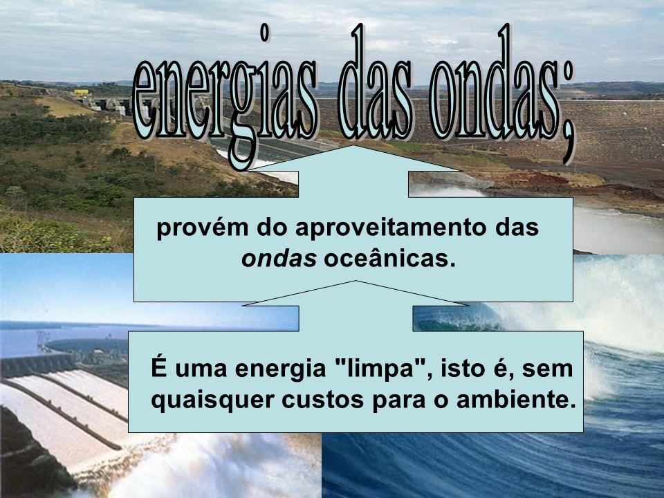 provém do aproveitamento das ondas oceânicas.