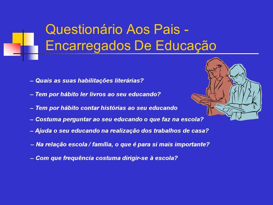 Questionário Aos Pais - Encarregados De Educação
