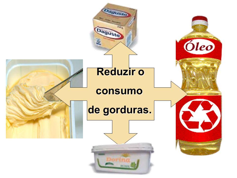 Reduzir o consumo de gorduras.