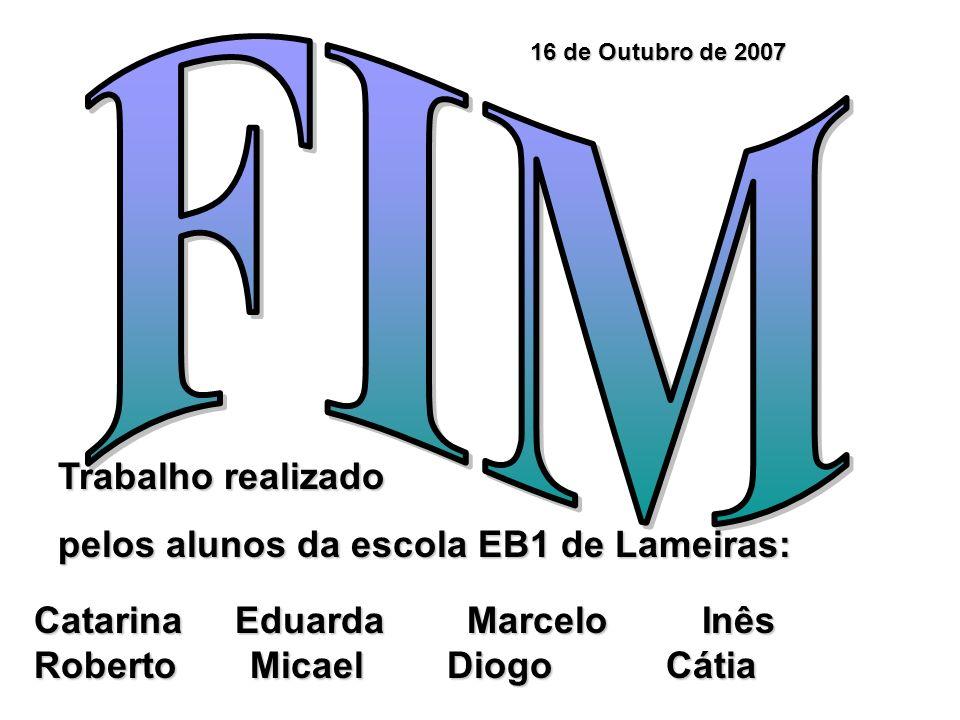 FIM Trabalho realizado pelos alunos da escola EB1 de Lameiras: