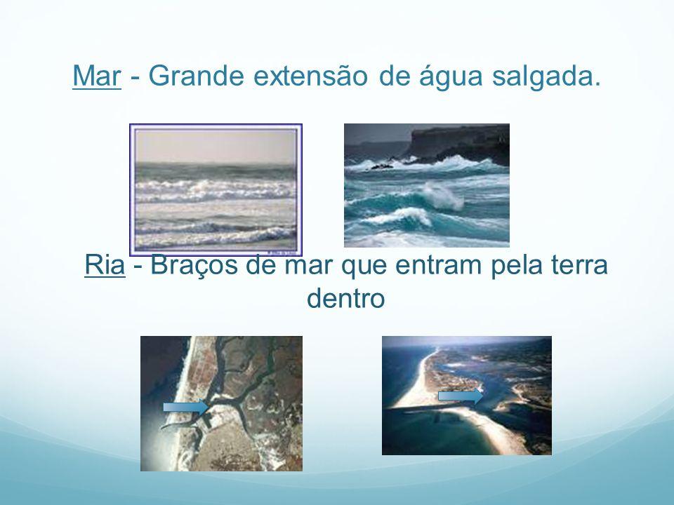 Mar - Grande extensão de água salgada.