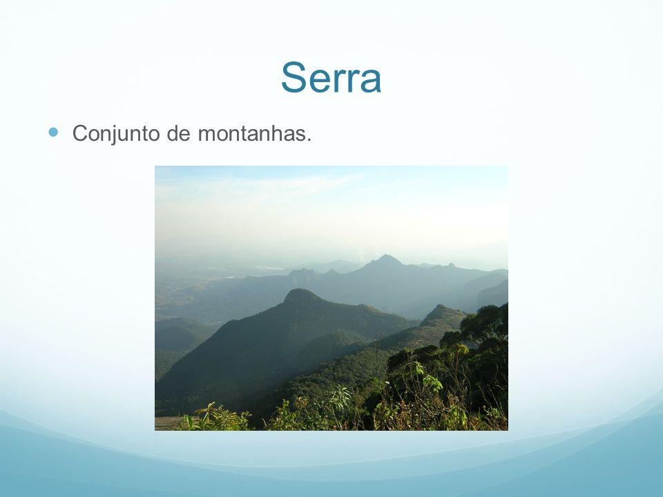Serra Conjunto de montanhas.