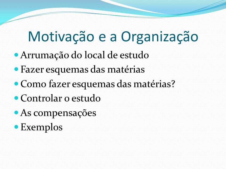 Motivação e a Organização