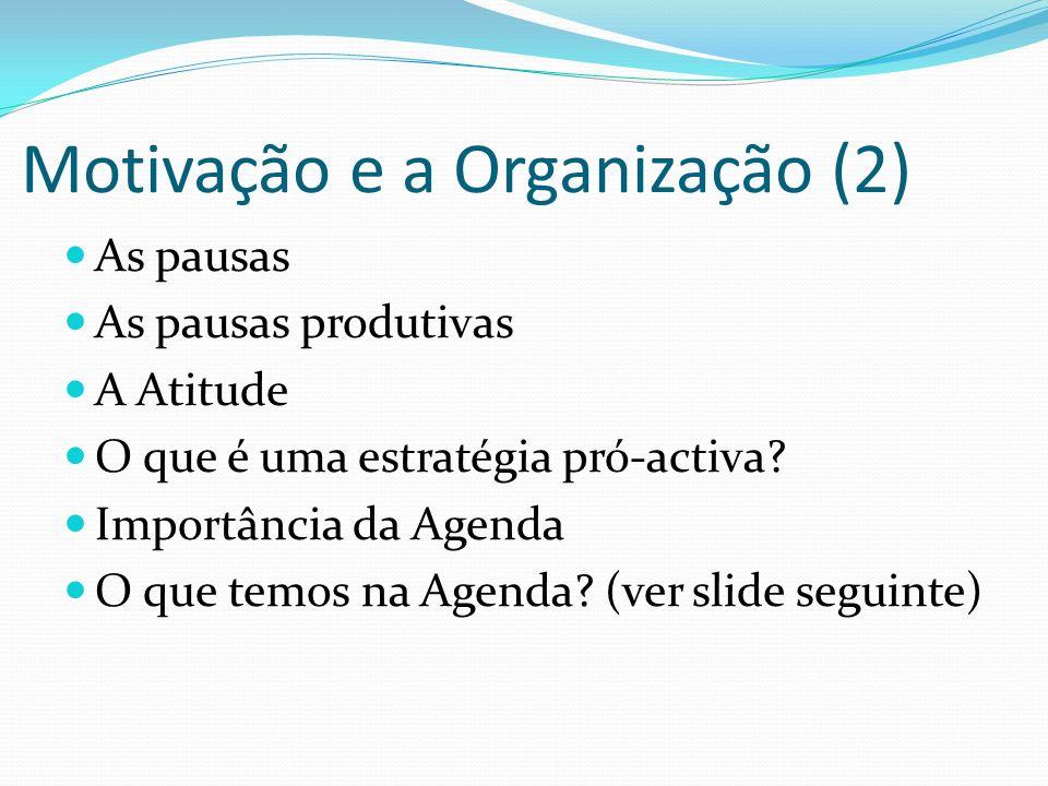Motivação e a Organização (2)