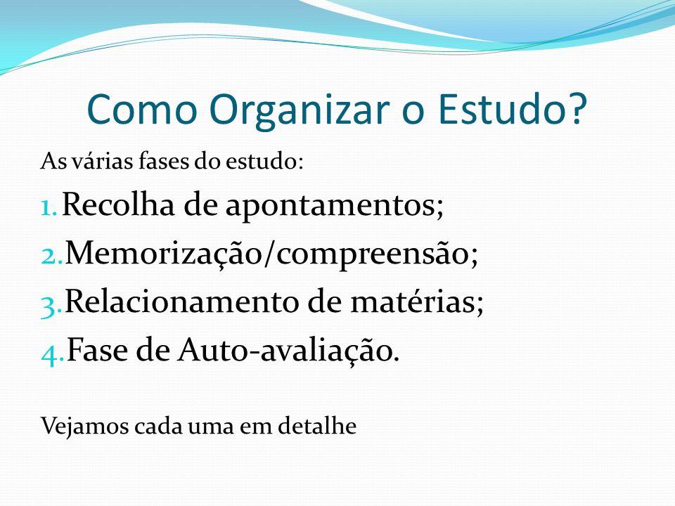 Como Organizar o Estudo