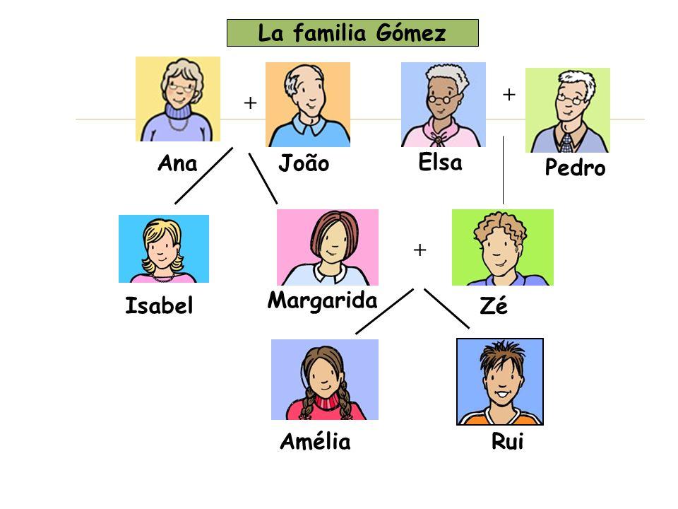 La familia Gómez + + Ana João Elsa Pedro + Margarida Isabel Zé Amélia Rui